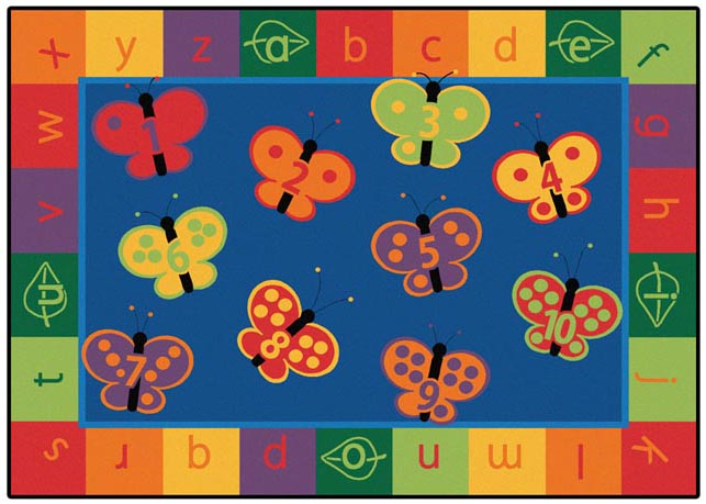 Carpet for Kids 123 ABC Butterfly Carpet