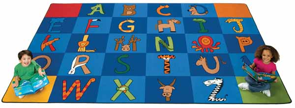 Carpet for Kids A to Z Animals Carpet