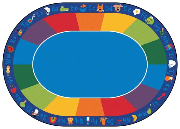 Carpet for Kids Fun wiith Phonics Carpet Oval