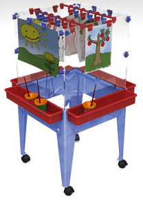 Child Brite Youth 4 Station Space Saver Easel