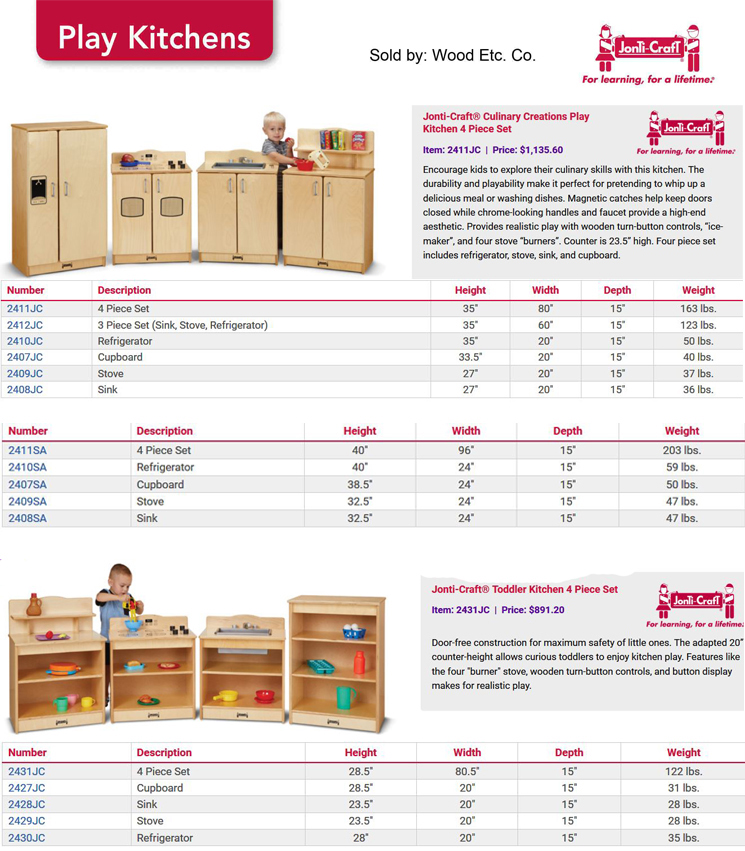 Jonti Craft Play Kitchens