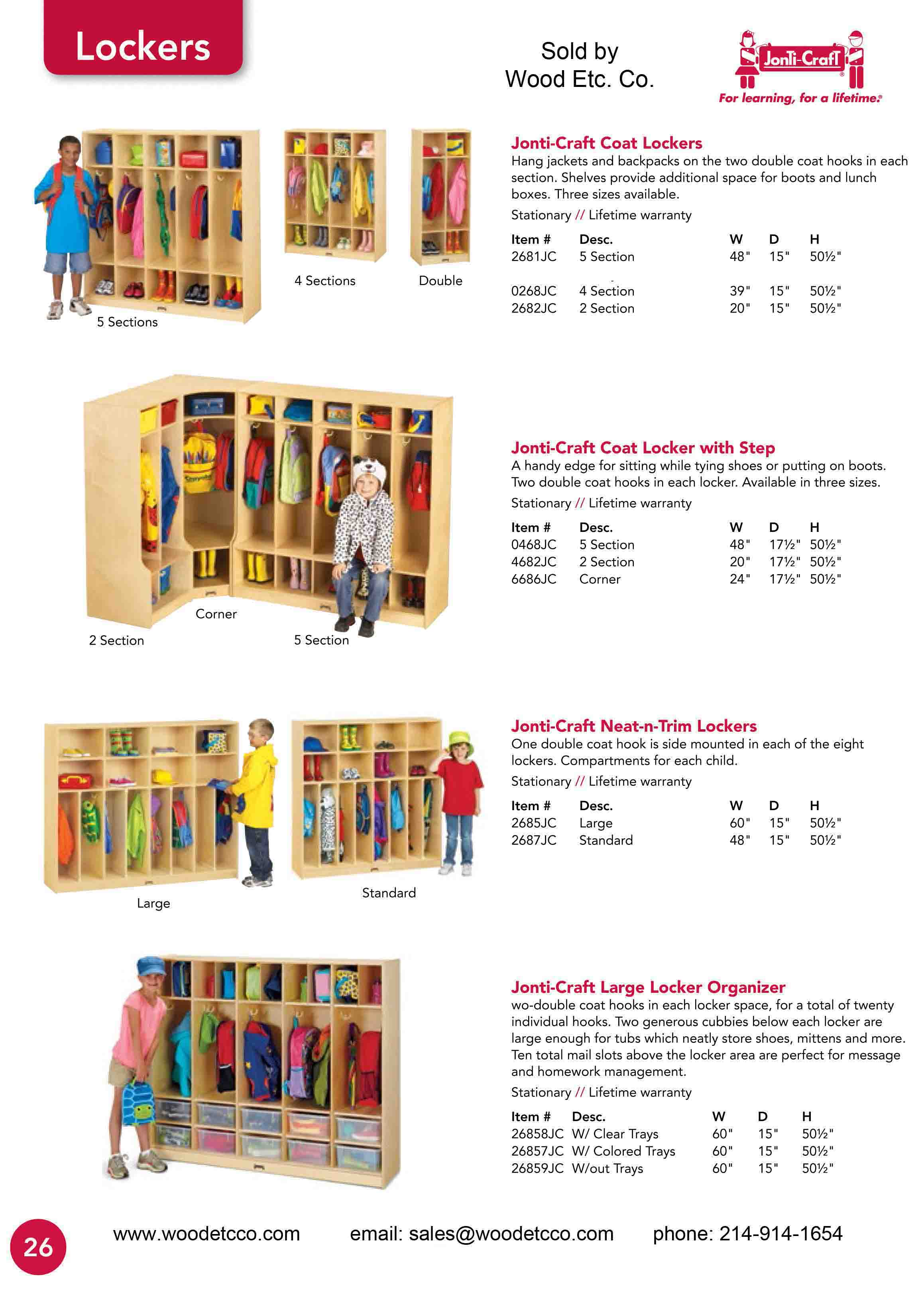 Jonti Craft Lockers for Early Childhood