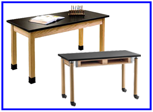 Wood Etc. Co. Science Tables