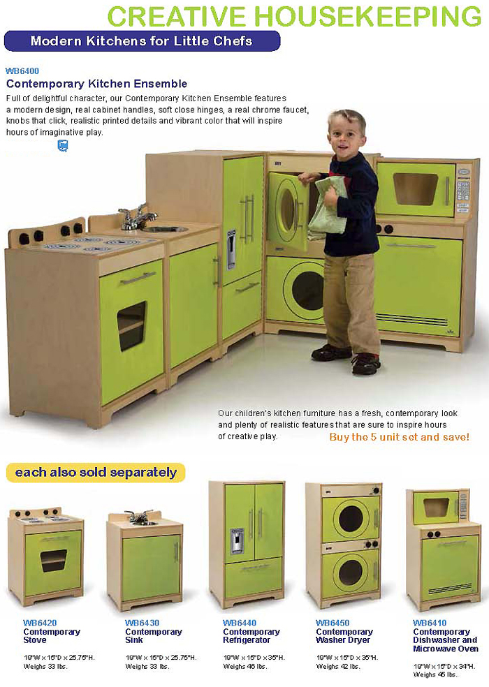WHITNEY BROTHERS Kitchen Units Dramatic Play