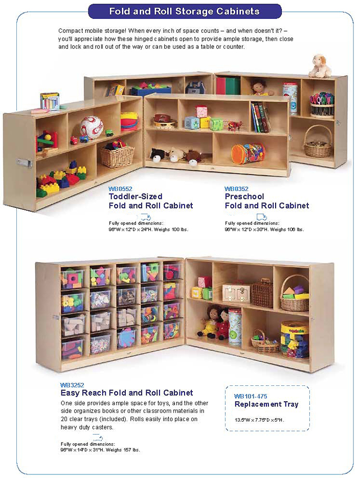 WHITNEY BROTHERS - Cubby and Tray Storage